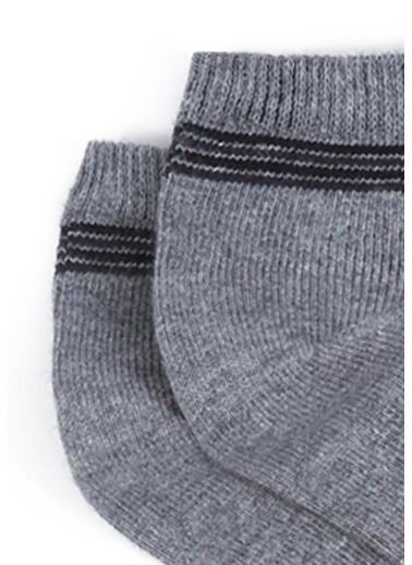 Mavi 2Li Patik Çorap Seti Gri